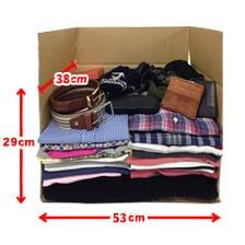 サイズ大 梱包物例(バッグ、靴)