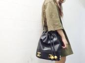 【BC原宿竹下通り店】CHANEL(シャネル) レザー ドローストリング バッグ  買取入荷:画像1