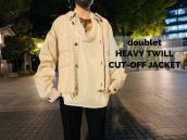 【新着入荷】買取キャンペーンブランドdoubletよりHEAVY TWILL CUT-OFF JACKETのご紹介!:画像1