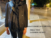 【新着入荷】tricot COMME des GARECONS 19AW フリルベストレイヤードジャケットが入荷致しました!:画像1