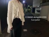 【新着入荷】買取イベント対象ブランドCOMME des GARCONSのレースジャケットが入荷致しました。:画像1