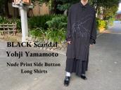 【新着入荷】買取イベント対象ブランドBLACK Scandal Yohji Yamamotoのヌードプリントサイドボタンロングシャツが入荷致しました。:画像1
