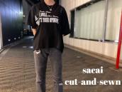 【新着入荷】sacaiの切替カットソーが入荷致しました。:画像1