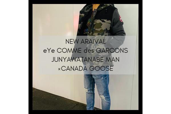 eYe COMME des GARCONS JUNYAWATANABE MAN×CANADA GOOSEの20AWデニム切替ダウンジャケットが竹下通り店に入荷致しました。:画像1