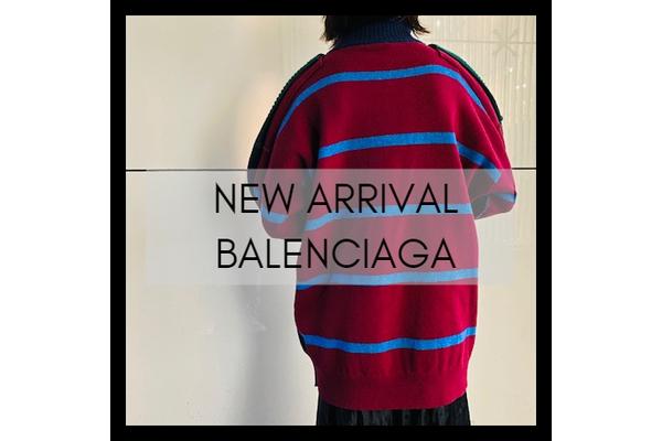 BALENCIAGAの切替ボーダーオーバーサイズニットが竹下通り店に入荷致しました。:画像1