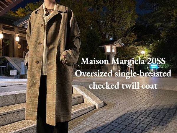 【新着入荷】Maison Margiela 20SS Oversized single-breasted checked twill coat入荷致しました!