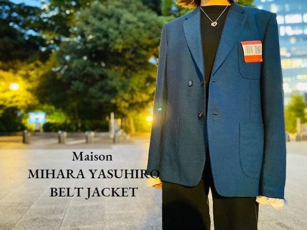 【新着入荷】Maison MIHARA YASUHIROのBELT JACKETが入荷致しました。