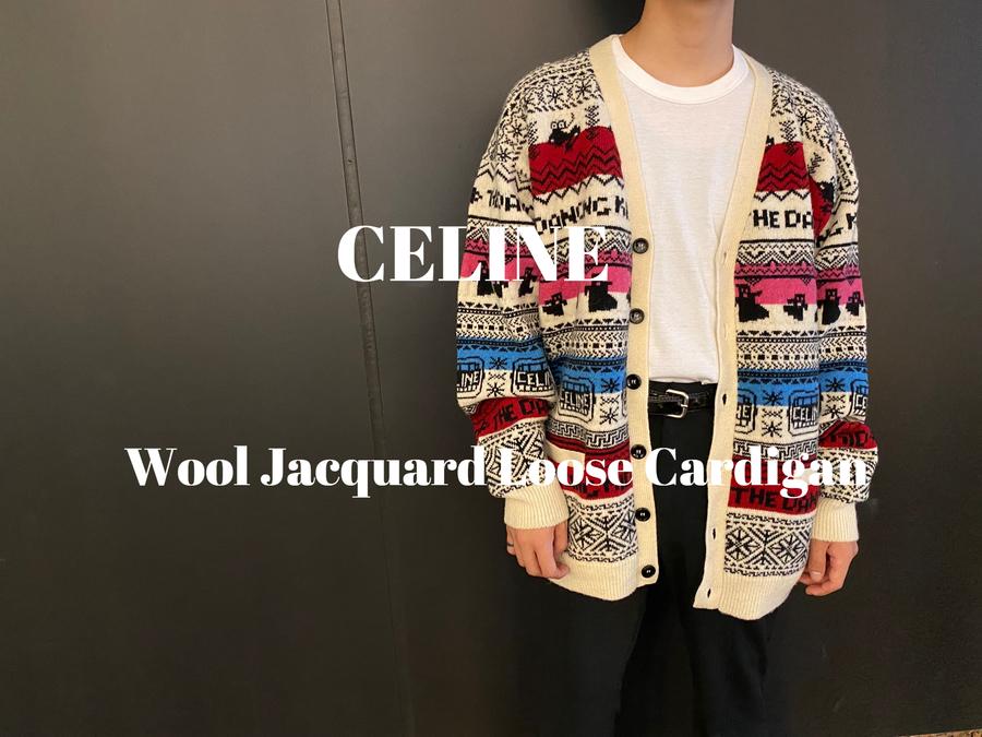 買取イベント対象ブランドCELINEの21SS Wool Jacquard Loose Cardiganが入荷致しました。
