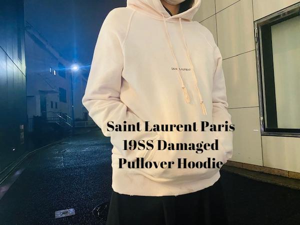 【新着入荷】Saint Laurent Paris の19SSダメージ加工プルオーバーパーカーが入荷致しました。