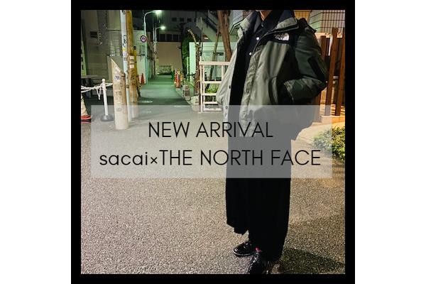 sacai×THE NORTH FACEのボンバージャケットが竹下通り店に入荷致しました。