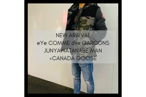 eYe COMME des GARCONS JUNYAWATANABE MAN×CANADA GOOSEの20AWデニム切替ダウンジャケットが竹下通り店に入荷致しました。