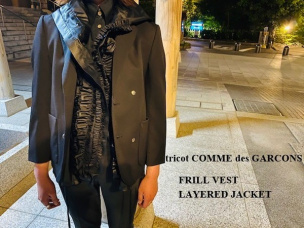 【新着入荷】tricot COMME des GARECONS 19AW フリルベストレイヤードジャケットが入荷致しました!