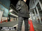 【アパレルラインの最高峰!】CHROME HEARTS(クロムハーツ)からLetterman Jacket入荷!!!:画像1