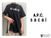 【新入荷情報】21SS!A.P.C.×sacaiのロゴTシャツ入荷致しました。:画像1