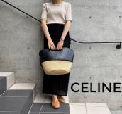 【買取入荷情報】CELINE/セリーヌの夏にぴったりなラフィア切替バケットバッグのご紹介です。:画像1