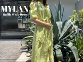 【買取強化ブランド】MYLAN/マイランのラッフルラップドレスをお売りいただきました。:画像1