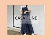 【スタッフおすすめ商品】CASA FLINE(カーサフライン)フロントホックデニムロングワンピースのご紹介です:画像1