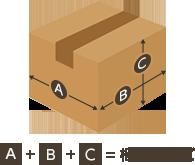 梱包サイズ=縦、横、奥行きの合計