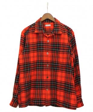 チェックウールシャツ