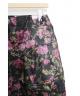 COMME des GARCONS(コムデギャルソン)の古着「フローラルプリントバルーンスカート」|ブラック