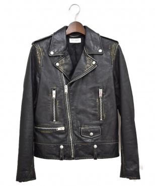L01/ヴィンテージ加工ライダースジャケット