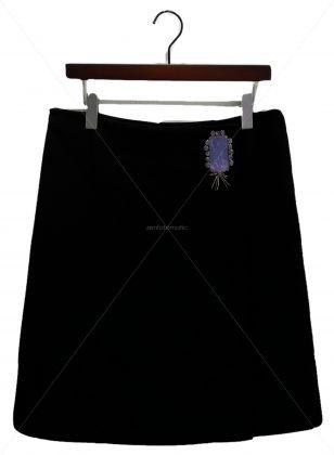 ビジュー付ラップスカート